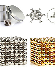 cheap -216PCS 3MM Golden&Silver DIY Magnetic Balls Sphere Beads Magic Magnet Puzzle Executive Building Block 2 Color