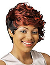 cheap -Synthetic Wig Curly Red Women's Capless Black Wig Short Synthetic Hair