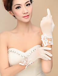 cheap -Spandex Wrist Length Glove Bridal Gloves Party/ Evening Gloves With Sequins