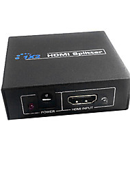 economico -hdmi v1.3 1x2 hdmi splitter (1 in 2 out), il supporto 3D 1080p