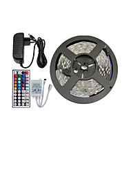 cheap -5m RGB Strip Lights Light Sets Flexible LED Light Strips LEDs RGB Remote Control / RC Cuttable Dimmable Color-Changing Self-adhesive