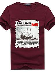 Homme Tee-shirt de Randonnée Respirable Anti-transpiration Tee-shirt Hauts/Top pour Camping / Randonnée Escalade Sport de détente