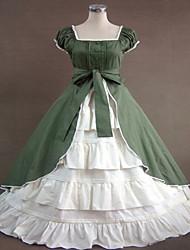 billige -Gotisk Lolita Klassisk og Traditionel Lolita Steampunk® Blonde Dame Kjoler Cosplay Uden ærmer Lang Længde Halloween Kostumer