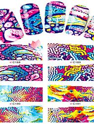 cheap -8pcs  Nail Art Water Transfer Stickers Abstractive  Image Fashion C188-191