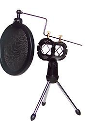 chocs de montage porte-pied de micro avec filtre anti-pop intégré kit noir