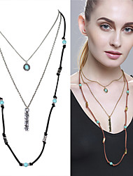 cheap -Women's Pearl Layered Necklace - Statement, Fashion, Cute Gold, Silver Necklace For Party