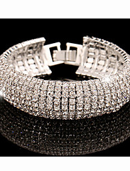 MISSING U Alloy / Rhinestone Bracelet Chain & Link Bracelets Wedding / Party / Daily 1pc Christmas Gifts