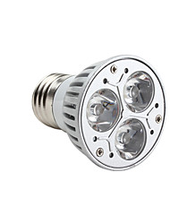 GU10 E26/E27 LED Spotlight MR16 3 High Power LED 220lm Warm White 3000K Dimmable AC 220-240V