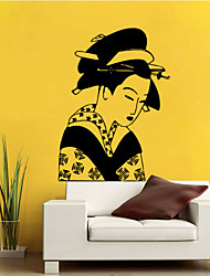 cheap -4080 Ancient Japanese Women Removable Wall Sticker Home Decal  Decor Wallpaper Girls Bedroom Decorative