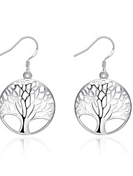 cheap -Drop Earrings Euramerican Silver Plated Tree of Life Jewelry For Daily 1 pair