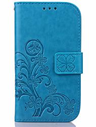 economico -Custodia Per Samsung Galaxy Samsung Galaxy S7 Edge A portafoglio / Porta-carte di credito / Con supporto Integrale Fiore decorativo pelle sintetica per S7 edge / S7 / S6 edge plus
