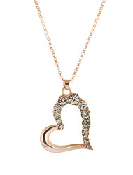 cheap -Women's Heart Crystal Rhinestone Austria Crystal Pendant Necklace Pendant - Love Heart Necklace For Wedding Party Daily Casual Sports