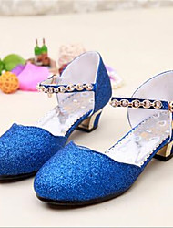 cheap -Girls' Shoes PU(Polyurethane) Summer Heels Bowknot / Imitation Pearl for White / Pink / Blue