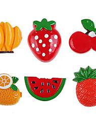 1pcs verdure resina frutta stile cucina frigo foglio magnete regalo divertente (colore casuale)