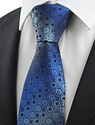 cheap -Navy Blue Gradient Swirl Paisley Pattern JACQUARD Men's Tie Necktie Gift KT0043
