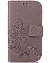 economico -Custodia Per Samsung Galaxy Samsung Galaxy Custodia A portafoglio / Porta-carte di credito / Con supporto Integrale Fiore decorativo pelle sintetica per J7 (2016) / J7 / J5 (2016)