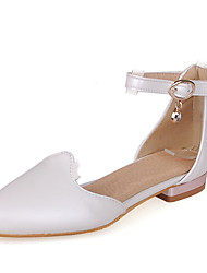 cheap -Women's Shoes Leatherette Spring Summer D'Orsay & Two-Piece Low Heel for Office & Career Dress White Black Pink