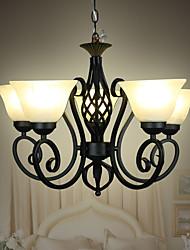 Iron Retro Living Room Lamps Bedroom Room Ceiling Nordic Creative Restaurant Lighting