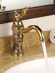 abordables -Robinet lavabo - Rotatif Ti-PVD Set de centre Mitigeur un trou