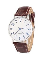 cheap -Men's Wrist watch Quartz PU Band Black Brown