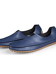 abordables -Hombre Mocasín Cuero de Napa Primavera / Verano / Otoño Confort / Zapatos para patines Zapatos de taco bajo y Slip-On Beige / Rojo / Azul / Boda / Fiesta y Noche