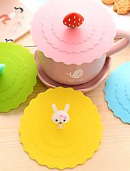 Недорогие -диам 11см различные мультфильм животных силиконовые чашки покрывают творческого кружка цвета крышки Drinkware (случайный цвет)