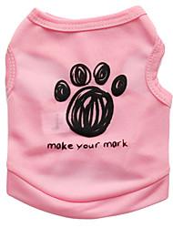 Недорогие -Кошка Собака Футболка Одежда для собак Цветочные / ботанический Черный Синий Розовый Терилен Костюм Назначение Лето Муж. Жен. Мода