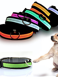 cheap -Cat Dog Necklace Dog Clothes Solid Colored Yellow Red Green Blue Pink Nylon Costume For Pets Men's Women's LED Fashion