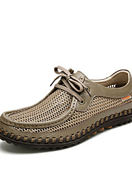 abordables -Homme Chaussures Similicuir Tulle Printemps Eté Confort Basket pour Décontracté Gris Kaki