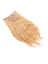 baratos -PANSY Com Presilha Extensões de cabelo humano Onda de Corpo Cabelo Humano