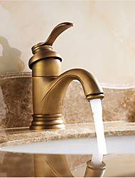 cheap -Bathroom Sink Faucet - Waterfall Antique Brass Centerset Single Handle One Hole