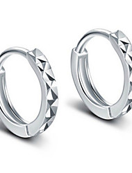 cheap -Men's Women's Stud Earrings Hoop Earrings Simple Style Bridal Sterling Silver Alloy Jewelry Jewelry For Wedding Party Daily Casual