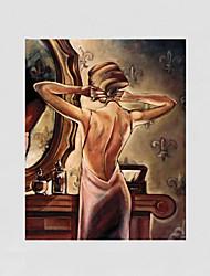 abordables -pintados a mano resumen de la gente moderna una pintura al óleo de la lona del panel para la decoración casera