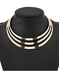 cheap -Women's Layered Choker Necklace / Statement Necklace  -  European, Fashion, Multi Layer Gold, Silver Necklace For Party, Special Occasion, Birthday