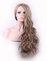 Europe and America Ladies Wear Synthetic Wigs Ombre Brown Color Body Wave High Quality Wig Fashion