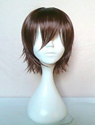 New Stylish Cosplay Wigs Men's Cartoon Wig Brown Short Straight Animated Synthetic Hair Wig