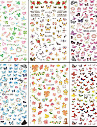 cheap -10pcs Water Transfer Printing Japanese Large Water To Stick The Maple Leaf The Butterfly