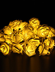 5m 20-LED Outdoor Christmas Holiday Decoration Rose Shape Warm White Light LED String Light (220V)