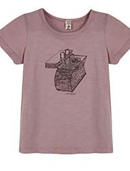 billige -Drenge T-shirt Daglig Geometrisk, Bomuld Sommer Kortærmet Lilla