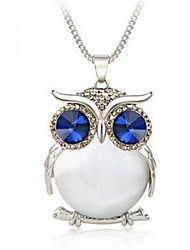 Women's Pendant Necklaces Crystal Resin Rhinestone Alloy Fashion White Gray Blue Jewelry Wedding Party Daily Casual 1pc