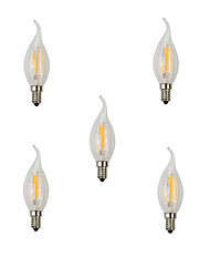cheap -5pcs 4W E14 LED Filament Bulbs CA35 4 High Power LED 360lm Warm White Cold White Decorative AC220-240V