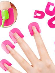26pcs / Sets kreative Nagelkunstpolierschutz Werkzeuge Nagel Maniküre DIY Tools