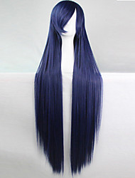 Anime Cosplay Wigs Dark Blue 100 CM Long Straight Hair High Temperature Wire