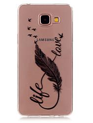 economico -Per Samsung Galaxy Custodia Transparente / Fantasia/disegno Custodia Custodia posteriore Custodia Piume TPU Samsung A5(2016) / A3(2016)