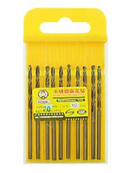 preiswerte -rewin® Werkzeug Edelstahl kobalthaltige Spiralbohrer Durchmesser: 2,0 mm mit 10 Stück / Karton