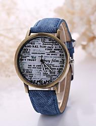 Masculino Relógio de Pulso Quartzo Relógio Casual Couro Banda Preta Branco Branco Preto Vermelho Verde Azul