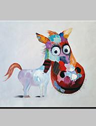 Peint à la main Abstrait Animal Vacances Moderne Un Panneau Toile Peinture à l'huile Hang-peint For Décoration d'intérieur