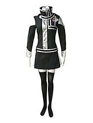 cheap -Inspired by D.Gray-man Lenalee Lee Anime Cosplay Costumes Cosplay Suits Patchwork Long Sleeves Dress Badge For Female