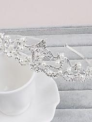 perla rhinestone tiaras headpiece elegante estilo femenino clásico
