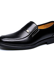 cheap -Men's Shoes Leatherette Winter Spring Summer Fall Comfort Formal Shoes Loafers & Slip-Ons For Casual Office & Career Black